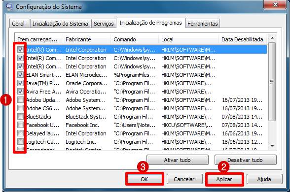 removendo programas que inicializam junto com o windows 7
