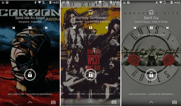 colocar capa dos álbuns de música no celular