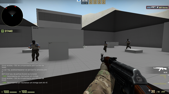 counter strike mapa treino