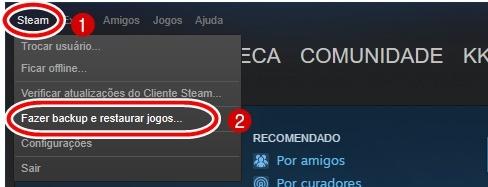 Como fazer Backup dos jogos da Steam e Restaurar hd