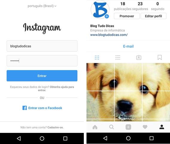 Como entrar no Instagram com erro