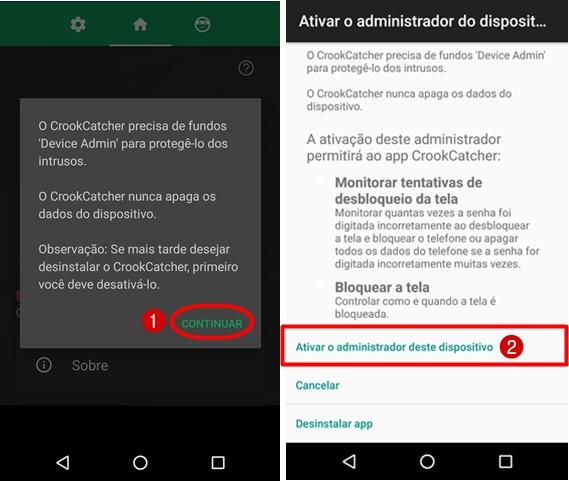 App que tira foto quando erra a senha no Android gratis