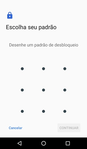 Senha desenhar tela Android