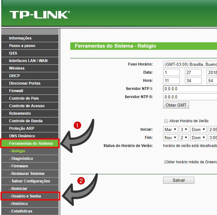 192.168.0.1 roteador Admin TP-Link
