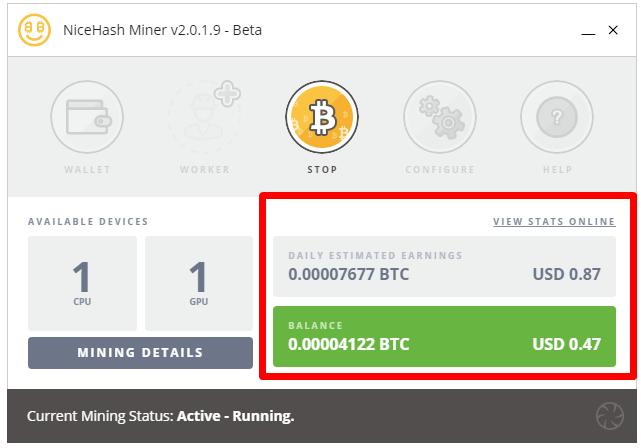 Nicehash Bitcoins