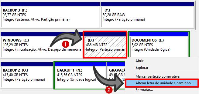 como ocultar particao windows 7 8 10